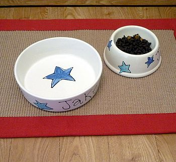 Personalised Dog Bowl With Stars