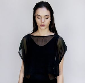 Sheer Crop Top - tops & t-shirts