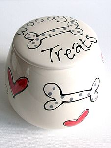 Personalised Dog Treat Jar - food, feeding & treats