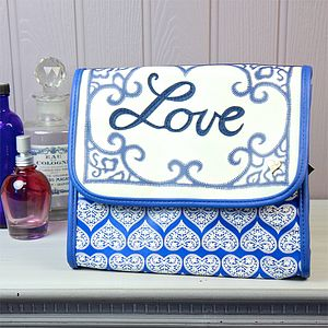 Jan Constantine China Blue Wash Bag - make-up & wash bags