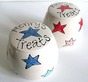 Personalised Treat Jar - food, feeding & treats