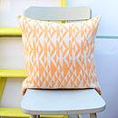 Orange And Cream 'Pelt' Knitted Cushion