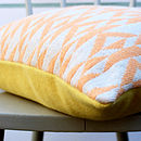 Orange And Cream 'Pelt' Knitted Cushion
