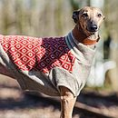 Saffron/Oatmeal Diamond Gloucester Dog Jumper