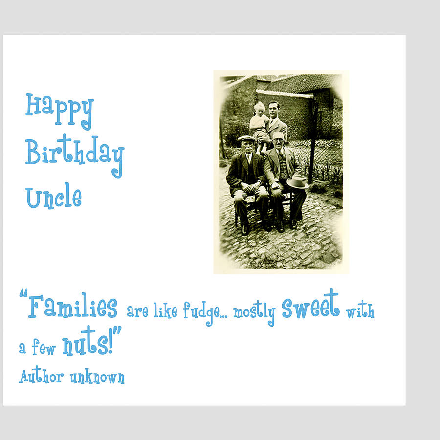 Uncle Birthday Card By Amanda Hancocks
