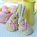 Set Of Mummy And Baby Easter Bunnies