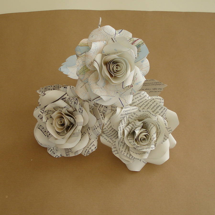 Music Sheet Paper Rose By Suzi Mclaughlin Notonthehighstreet