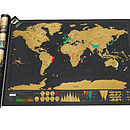 Deluxe Scratch Off World Map ' Super Fast Delivery '