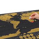 Deluxe Scratch Off World Map