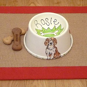 Spaniel Bowl With A Portrait Of Your Dog - food, feeding & treats