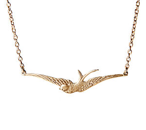 Spread Your Wings Swallow Necklace