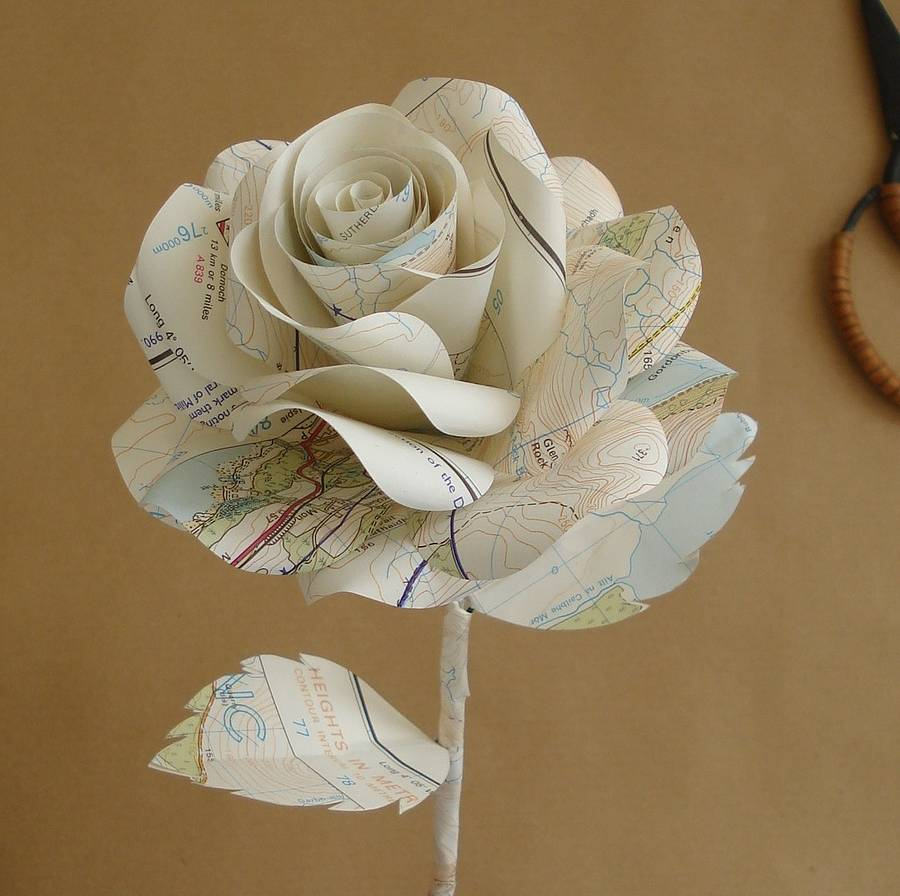How to make origami rose paper flowers
