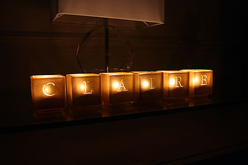 Alphabet Tealight Candle Holders