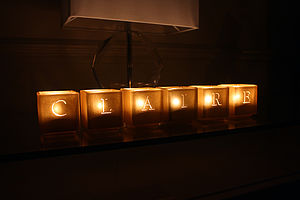 Alphabet Tealight Candle Holders - weddings sale