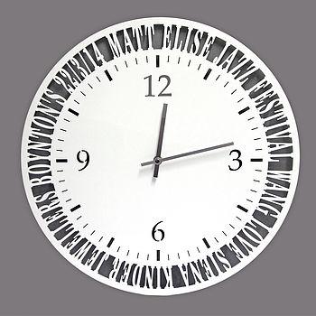 Personalised Acrylic Clock