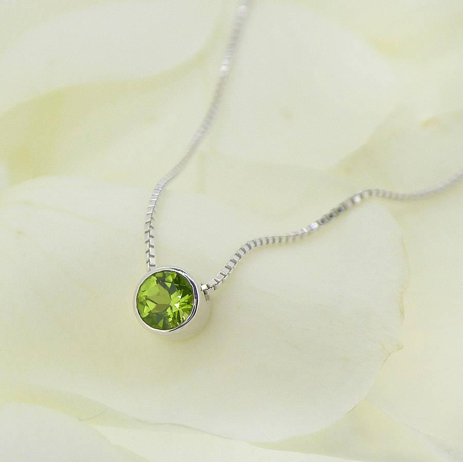 Peridot Necklace August Birthstone By Lilia Nash Jewellery