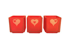 Heart Trio Tealight Candle Holder Set - candles & candlesticks