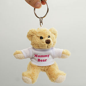 Personalised Mummy Bear Teddy Keyring