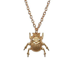 Sacred Scarab Beetle Necklace