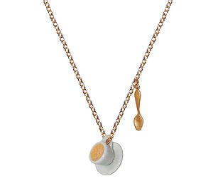 Teacup And Teaspoon Necklace