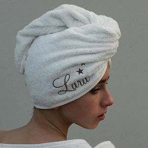Personalised Turbie Towel - towels & bath mats