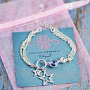 Circle Bracelet Made With Swarovski Crystals