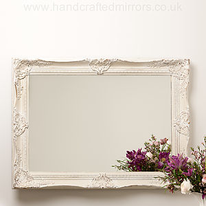 Ornate Hand Painted French Mirror - mirrors