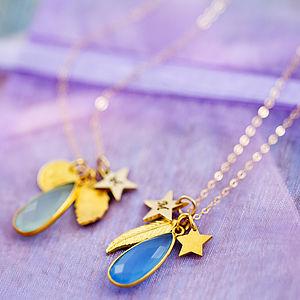 Gemstone Pendant Charm Necklace - necklaces & pendants