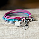 Soft Leather Bracelet With Personalised Charm
