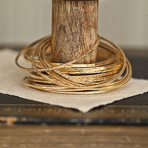 Gold Plated Hammered Bangle - gifts for her