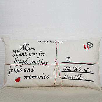 Personalised Postcard Cushion Cover