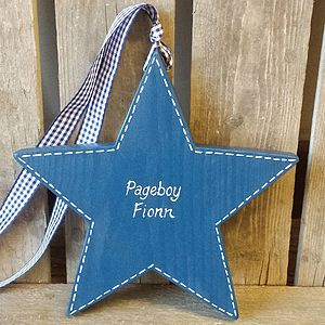 Personalised Pageboy Star