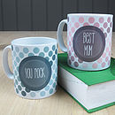 Personalised 'Polkadot' Mug Ceramic