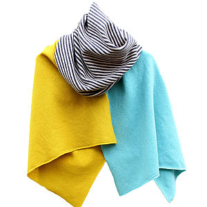 Alexander Knitted Lambswool Wrap - scarves