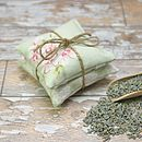 Sage Green Floral Lavender Pillows