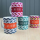 Personalised 'Zig Zag Mug' Ceramic