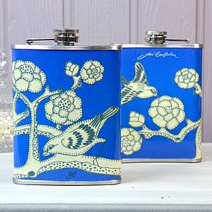 Jan Constantine China Blue Hip Flask - kitchen
