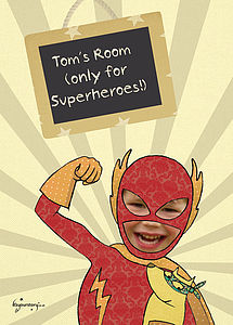 Personalised Superhero Poster - posters & prints