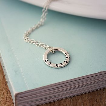 Personalised Mini Message Necklace