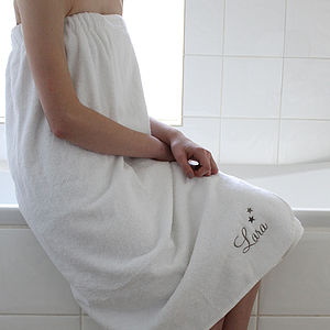 Personalised Towelling Sarong - bathroom