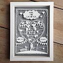 Personalised Anniversary Love Papercut