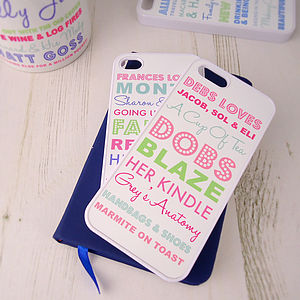 Personalised iPhone Case Loves - interests & hobbies