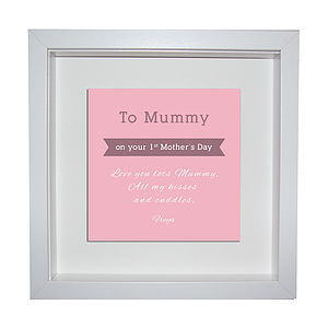 Personalised First Mothers Day Framed Print - wall art