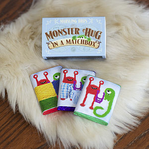 Monster Hug Chocolate Gift In A Matchbox - stocking fillers