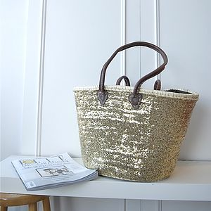 Gold Sequinned Basket