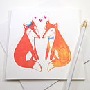 Foxy Love Greetings Card