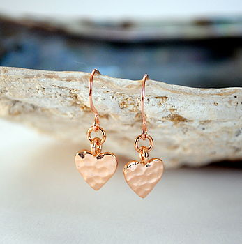 Tiny Heart Rose Gold Earrings