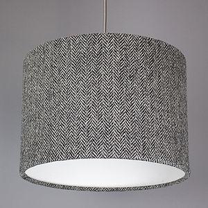 Grey Herringbone Harris Tweed Lampshade - lamp bases & shades