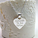 Personalised Silver Babyprints Necklace