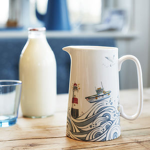 Cornish Coast Pint Jug - jugs & bottles